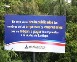 Alcaldía de Santiago publicará nombres empresarios no pagan impuestos