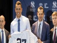 Yankees de Nueva York presentan al toletero Giancarlo Stanton